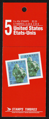 Canada — Booklet Pane of 5 — Christmas: Nativity, Mother & Child #1295a (BK121)