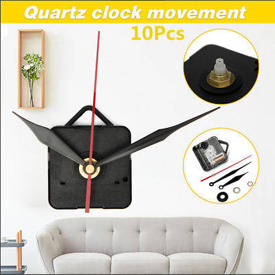 DIY Wall Quartz Clock Movement Mechanism Black+Red Hands Repair Tools Kit Gift