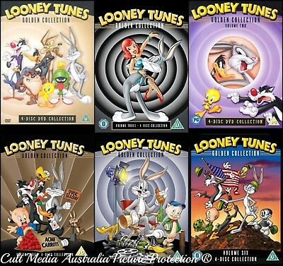 Looney Tunes Remastered Complete Volumes Uncut Golden Collection New 24 Dvd