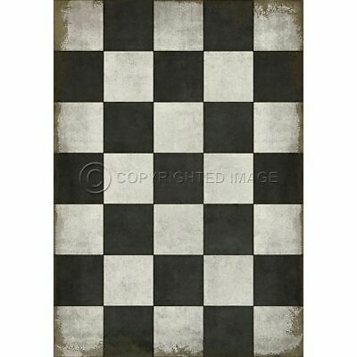 """43"""" x 60"""" Checkered Past Floor Vinyl By Spicher and Company - Quick Ship"""