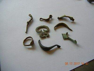 Metal detector find fibulas ring other misc  think Roman  period