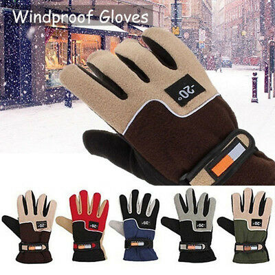 Men Thermal Hat and Gloves 3M Ski Warm Winter Hat and Gloves