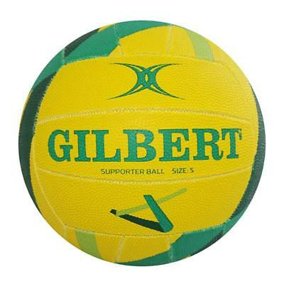 Gilbert Netball Diamonds Supporter Netball Size 5 in Yellow and Green