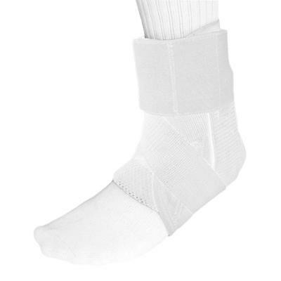 Gilbert Netball Laces Ankle Support in White