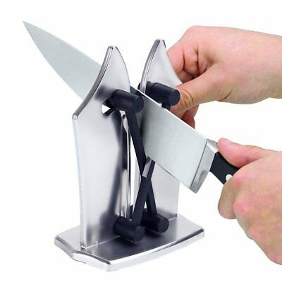 NEW Kitchen Knife Sharpener by BulbHead Sharpens Hones Standard Blade 4Colors MA