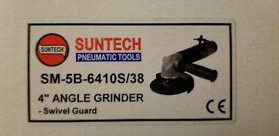 "Suntech 1.1 HP Heavy Industrial Pneumatic Air 4"" Angle Grinder 3/8""-24"