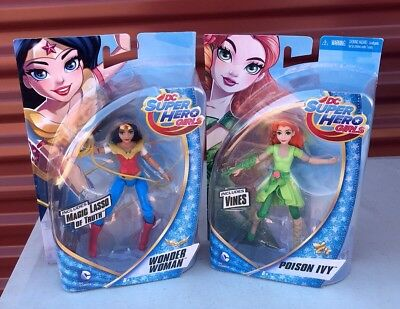 "Lot Of 2 DC Super Hero Girls Poison Ivy Wonder Woman 6"" Figures"