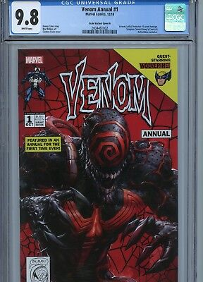 Venom Annual #1 Clayton Crain Variant Cover A Cgc 9.8 Lethal Protector 1 Homage