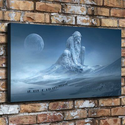 """Fantasy Snow Statue 16""""x28"""" Home Decor HD Canvas prints Wall art Painting Poster"""