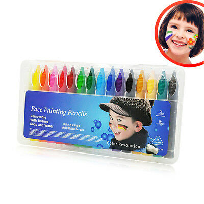 Face Painting Crayons Body Paint Pencils Sticks Non-toxic Easy Wash 16 Color