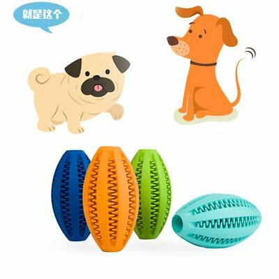 Rubber For Training Rugby Football Dog Toy Ball Pet Supplies Dental Massaging