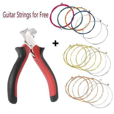 Free Acoustic Guitar Strings Standard set of 6 & Guitar Fret Wire String Pliers