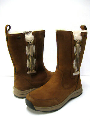 f4ec01f4565 UGG SUVI CHESTNUT Leather Waterproof Winter Snow Women's Boots Size ...