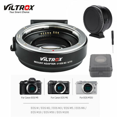 VILTROX EF-EOS M2 Auto Focus Adapter 0.71x Aperture for Canon EF Lens to EOS-M