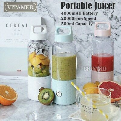 Vitamer Portable Fruit Juicer Smoothie Maker Blender USB Rechargeable 4000mah