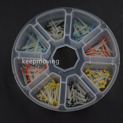 200 Pcs Dental Fiber Post Drills Glass Quartz Teeth Restorative 1.2 1.4 1.6 1.8