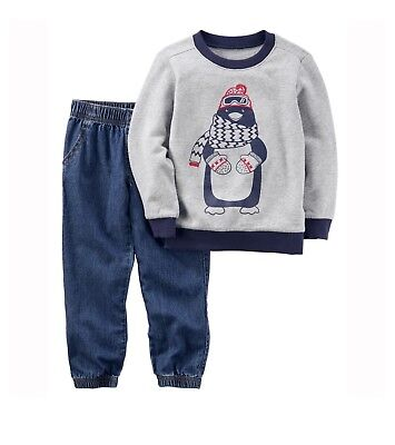 953f5b391 New Carter's Baby/Toddler Boys' 2 Pc Long Sleeve Shirt/Joggers Or Jeans