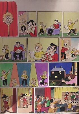 Beano Les Pretend 16th January 2010. Drawn And Colours By Laura Howell. A2 Size