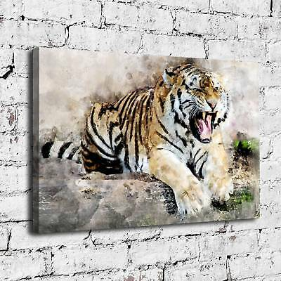 "16""x24"" Tiger Abstract HD Canvas prints Painting Home Decor Picture Wall art"