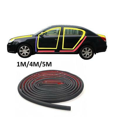 1/4/5M Car Door Edge Rubber Weatherstrip Noise Insulation Sealing Strip Trim