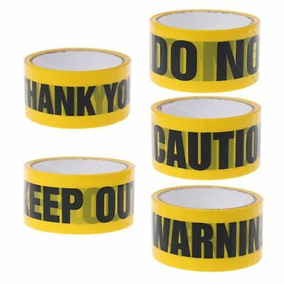 Yellow Warning Tapes Caution Mark Work Safety Adhesive Tape DIY Sticker 48mm×25m
