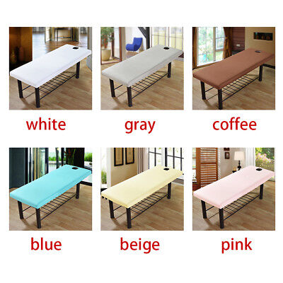 Massage Bed Table Soft Cover Salon Spa Couch Sheet Bedding With Hole UK Stock