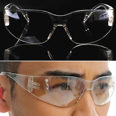 Laboratory Spectacles Safety Clear Glasses Goggles Work Eye Protective Eyewear U