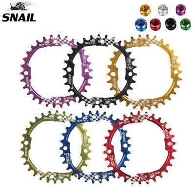 SNAIL BCD104mm 30T MTB Bike Chainring Mountain Narrow Wide Round Sprocket Bolts