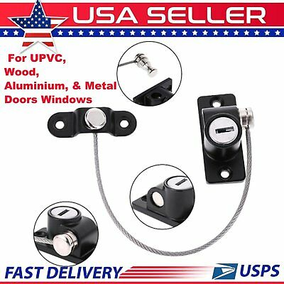 3pcs Baby Security Window Door Lockable Restrictor Cable Lock With Key MX