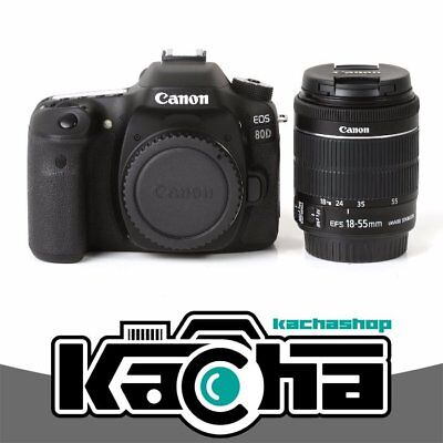 NEUF Canon EOS 80D Digital SLR Camera + 18-55mm f/3.5-5.6 IS STM Lens