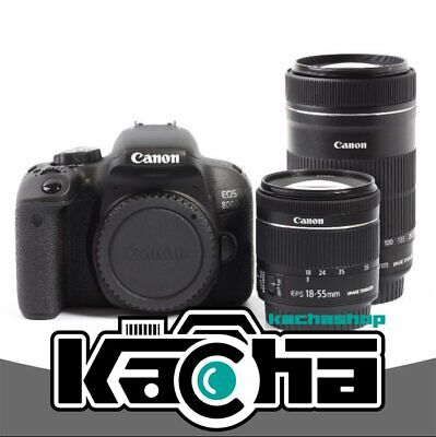 NEUF Canon EOS 800D Digital Camera + EF-S 18-55mm IS STM + EF-S 55-250mm IS STM
