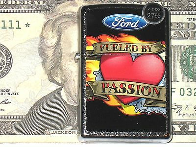 New Zippo Windproof Flame Lighter Ford Blue Oval Fueled by Passion 4x4 Mud Truck