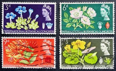 Great Britain 1964 'Tenth Inter Botanical Congress' SG655/658 Ordinary Used Set