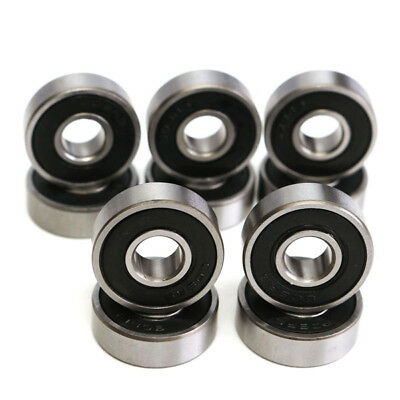 10pcs 8x22x7mm Deep Groove Miniature Bearing Seal Ring 608-2RS 608RS Ball