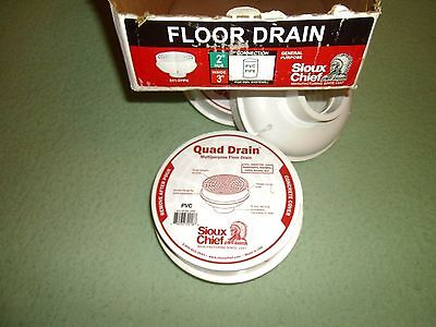 "Sioux Chief Pvc Floor Drain 841-2P/841-2PPK HUB 2"" FITS INSIDE 3"" PIPE"