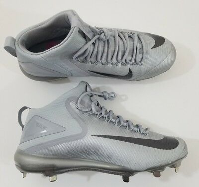 info for 45e5e 852f0 Nike Zoom Mike Trout 3 Metal Baseball Cleats Grey Silver Black Sz 11 856503- 001