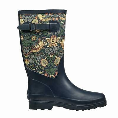 BRIERS | William Morris Fabric Feel Rubber Wellington Boots - 'Strawberry Thief'