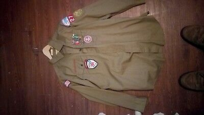 Vintage Boy Scout Uniform with medals and awards pants and shirt