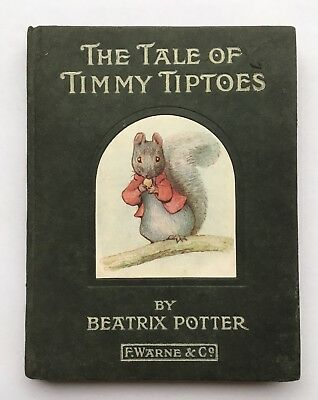 The Tale Of Timmy Tiptoes 1911 1St Edition Very Good Beatrix Potter Peter Rabbit