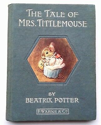 The Tale Of Mrs Tittlemouse 1910 1St Edition Beatrix Potter Very Good Condition