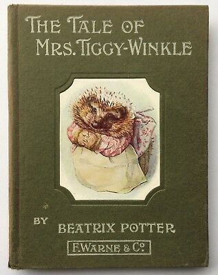 The Tale Of Mrs Tiggy Winkle Early Edition Very Good Beatrix Potter Peter Rabbit