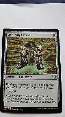 1x LIGHTNING GREAVES - Rare - Commander - MTG - NM - Magic the Gathering