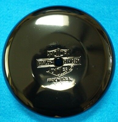 "Genuine Harley Davidson 8"" Gloss Black Round Air Cleaner Cover no Notch"