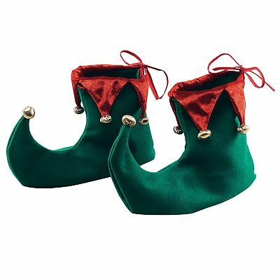 Elf Adult Shoes Boot Covers Xmas Festive Fancy Dress Costume Party Accessories