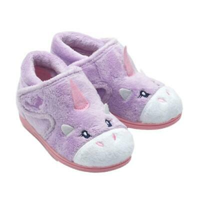 Chipmunks Girls Unicorn Kids Infants Animal 3D Bootee Soft Plush Slippers