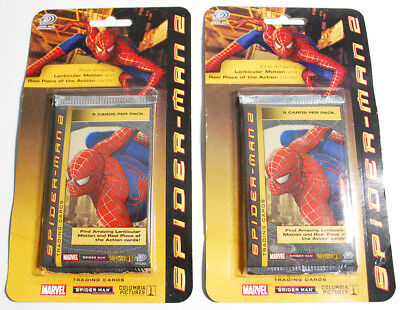 2004 Upper Deck Marvel Spiderman 2 Film Trading Pack Cards Sealed