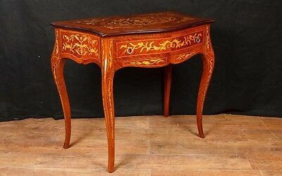 French Console Table - Empire Hall Tables Marquetry Inlay Furniture