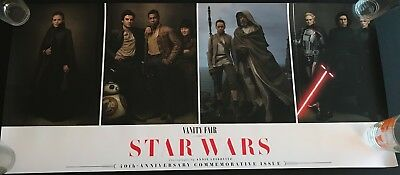 Star Wars The Last Jedi Vanity Fair Poster Rey Luke Skywalker Kylo Ren Phasma