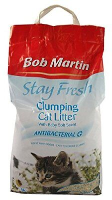 Bob Martin Stay Fresh Baby Soft Scented Antibacterial Clumping Cat Litter 10L