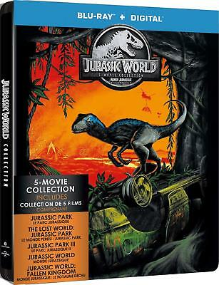Jurassic World: 5-Movie Collection Steelbook [Blu-ray] New & Sealed!